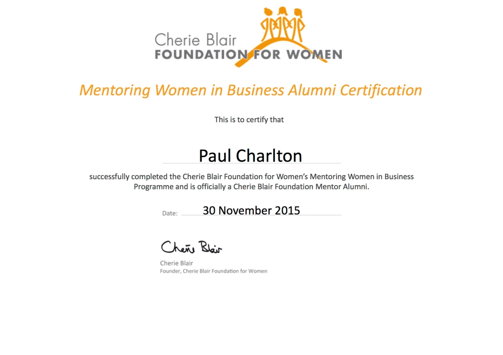 Cherie Blair Foundation For Women - Paul Charlton