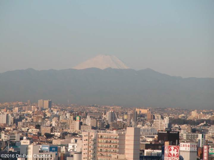 Mount Fuji from Yokohama Japan